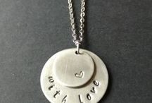 Hand Stamped Jewelry / Check out my designs at www.bumblebirddesigns.etsy.com :)