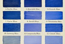 Blau - Blue - Siebenblau / Blaue Farben, blaue Stoffe, blaue Inspirationen