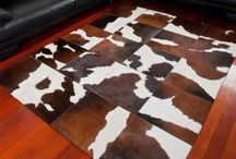 Cowhide Patchwork Rugs / A lovely selection of excellent quality cowhide patchwork rugs made to order. Choose from a wide range of cowhide rug styles and colours including simple squares, parquet, brick works and planks in a variety of colors.