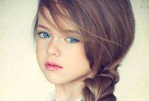 Blue eyes .
