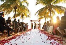 Beach wedding .