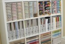 Craft Storage Ideas / Great ideas I've spotted to help keep track of your crafty stash