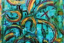 Art painting / Art abstract original painting by http://fifichatzistoikou.com/