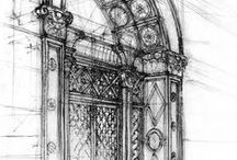 drawings of classical architecture