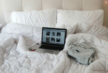 Room ♡ / All things decoration. From fairy lights to the simple bed spread.
