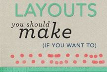 Scrapbooking Layout Ideas / Ideas and Inspiration for Scrapbook Layouts - pictures and sketches