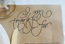 Give Thanks / What we're thankful for this month. / by BARI JAY