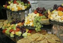 Fruit & Cheese Displays / There are many different ways to display fresh fruit & cheese. Here are some of our favorite ways to display our colorful creations!  www.twofatmencatering.com