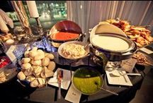 Buffet Stations / Stations are a fun way for your guests to grab a bite to eat & mingle too!  Here are a few of our favorites!  www.twofatmencatering.com