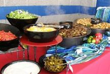 Taco Bar / These are a few examples of Taco Bars we've created for special events!  www.twofatmencatering.com