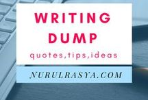 Writing Dump; Prompts, Cheat sheets, Tips / Everything about writing is dump here. You can find; workbooks, cheatsheets, tips, prompts, inspirational quotes (we all need that) and advice on how to write and create that novel that you always wanted to write.