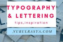 Typography and Lettering / For blog and poster design. And not forgetting #aesthetic