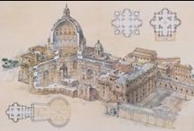 Donato Bramante (1444-1514) / Основоположник и крупнейший представитель архитектуры Высокого Возрождения. Его самой известной работой является главный храм западного христианства -  базилика Святого Петра в Ватикане.