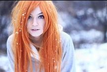 all shades of: ORANGE/COPPER hair / cabelo laranja fantasia... acobreado...
