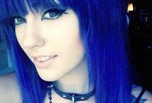 all shades of: BLUE hair / cabelo azul
