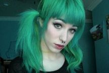all shades of: GREEN hair / cabelo verde