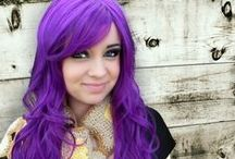 all shades of: PURPLE hair / cabelo roxo
