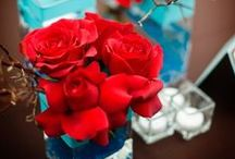 Teal and Red / Teal and Red Inspiration, Teal and Red Design, Teal and Red Interior Design, Teal and Red Decor