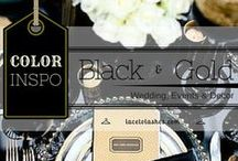 Black and Gold Wedding and Event / Color Inspiration, black and gold, wedding, event, party