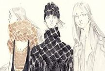 Original Sketches / illustrations, paintings, and sketches from Jeri Malone designer/founder, Jenny Rubin. Jenny created most of this fashion artwork while studying Fashion Design at Parson's School of Design (The New School) in NYC.