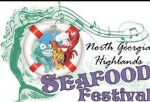 North Georgia Highlands Seafood Festival / GET READY TO:  ~Eat  some great seafood ~Tap your toes to live music ~Stroll through more than 50 arts and crafts exhibitors  ~Visit the SHELLFISH ART WALK  Invitation to Pin: Email cindy@pinebranchdesigns.com with the link to your account and you will be sent an invitation to join us.