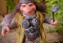 Mythical Creatures / OOAK Creatures from the Deep Forest. Handmade Dolls. *The Artist Web ( GoblinsLab ) :https://goo.gl/0Cc6op  /  Moisés Espino, Spanish plastic Artist, is able to bring our world to all the magical creatures that inhabit our minds. These Mythical Creatures like Goblins, Fairies, Elfs, Trolls, Gnomes, Pixies, Brownies, Dwarf....are created, shaped and Hand Made from the Artist's own vision and inspiration. *GoblinsLab Facebook:  https://goo.gl/S39lGQ