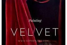 Velvet / Painting velvet is a challenge for any artist. Here are some highlights from art history and my own attempts.