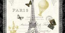 Destination: Paris / Paříž vintage styl