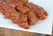 Biefstuk spieren in gemarineerd paprika marninafe