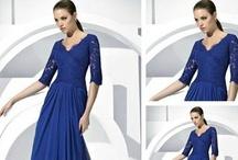 vestidos gama azul