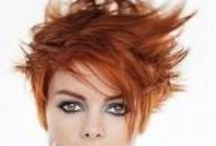 Red short hairstyles, red short hair, red hair, red highlights / Board of red short hairstyles, modern, asymmetrical, natural red, dark red, red highlights on short hair, short red hair