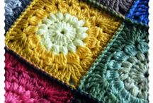 Granny squares, blocks and motifs for blankets / Different colours and patterns make a lovely blanket sometimes just one colour makes a statement / by Sharon Marson