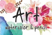 Art - watercolor & pencil / Collection of artwork and resources for watercolor technique.