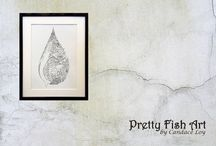 Pretty Fish Art / Http://PrettyFishArt.com Fun and beautiful art for lovers of the sea. Artwork for homes, surfboards, SUP and boats. Pretty Fish Art by Candace Loy: The Mermaid Tribe. See you at http://PrettyFishArt.com