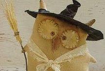 рукоделие идеи на октябрь / Хэллоуин, примитивы, вещи из текстиля и идеи, которые можно воплотить в текстиле