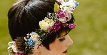 Flowers for Hair / Floral decoration for hair.  http://www.yorkshiredalesflowers.co.uk/