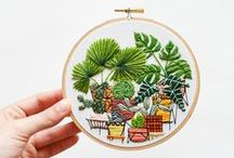 Sarah K. Benning : Contemporary Embroidery / Contemporary Embroidery on paper and cloth. Each piece, card and hoop, is meticulously crafted by hand (by me!), ensuring top quality and all the perks and quirks of handmade.