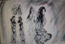 Tears of Shadows / Drawings, paintings from my own world
