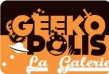 Geekopolis / GEEKOPOLIS,le festival des cultures de l'imaginaire, revient à Paris Expo les 23-24 mai 2015. A cette occasion, Geekopolis lance sa Galerie d'exposition virtuelle 3D. Visitez Metropolis dans une ambiance futuristique, partez au Japon en admirant les planches en couleur directe ou les illustrations.Plongez dans les vapeurs du steampunk avec la salle Nautilus. Essayez la fantasy en parcourant Avalon et ses murs couverts d'oeuvres. Plus d'infos sur http://myownartgallery.com/artists/geekopolis