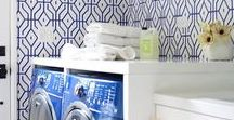 LAUNDRY ROOM LOVE / Want to design the laundry room of your dreams?  Look no further for great tips and designs to get your laundry room renovation rolling. A collection of stunning designs from DIY to sophisticated and sleek ideas that will help you to create that dream laundry room.