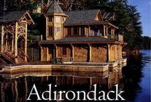:*´The Adirondack Lodge Look / Adirondack architecture dates back to the 1800′s. William West Durant has been credited as being the originator of this style, having created rustic estates for wealthy clients in the 1880′s. His use of native materials such as birch bark wallpaper and rustic details was then and still is well known. The style quickly spread through the Adirondack Park, and eventually throughout the country, evident in mountainous areas from the Appalachians in North Carolina as far west as the Rocky Mountains.  / by Lee Barber