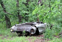 Rustin Away, They had lives once upon a time..... / Abandoned and Rusting Automobiles... What a shame... / by Garry Hutchison