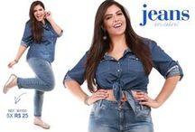 Moda jPlus Size -Jeans Plus/ Azul na cor do Mar / Peças azuis Plus size você encontra na kauê