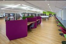 Holy Cross Sixth Form College and University Centre / Our brief for this Sixth Form College library was to design a space which was modern in style, but still kept to the traditional needs of a higher education library.
