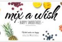 """Mix a wish - happy smoothies / Bei """"Mix a wish – Happy Smoothies"""" dreht sich so alles um leckere Smoothie-Rezepte. Dies soll aber kein Blogevent für uns alleine sein, wir möchten Euch natürlich gerne dabei haben! Unterstützt uns deshalb mit Euren leckeren Smoothie-Rezepte."""
