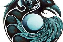 totem's-crows,bears,owls,turtles