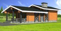 Гостевой дом из клееного бруса - Таежный / Проект одноэтажного деревянного дома, выполненный в традиционном стиле шале.