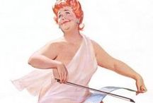 Hilda / Duane Bryers first painted Hilda, a plus-sized redhead calendar pin-up girl, in the mid-Fifties, and she remained popular until the Eighties. Although Hilda's creator passed away, his red-headed cartoon lives on today as a testament to the sex appeal of fuller-bodied women. (dailymail.co.uk)
