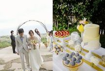 Yellow & grey theme wedding / I really hope we can all pull off even a smidgen of these amazing wedding inspiration photos.