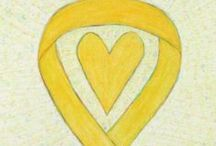 Yellow Awareness Ribbon Support and Art Gifts / The yellow awareness ribbon color shows support for bone cancer or osteosarcoma, support our troops / armed forces return, MIA/POW, suicide prevention, endometriosis, bladder cancer, adoptive parents, craniofacial acceptance, & spina bifida plus more. Let this yellow ribbon awareness give support to these causes!